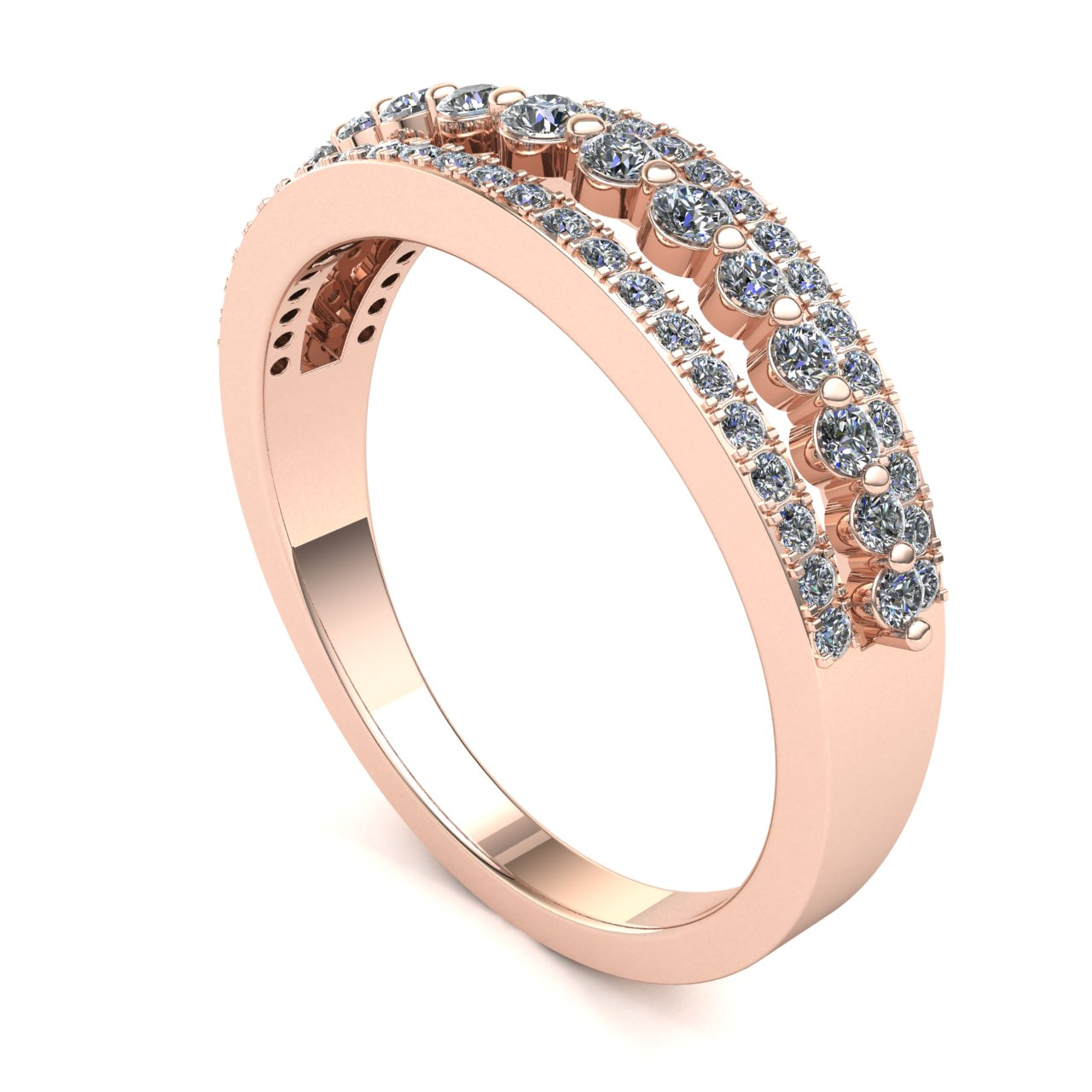 Genuine-0-5ctw-Round-Cut-Diamond-Ladies-Accent-Anniversary-Wedding-Band-10K-Gold thumbnail 7
