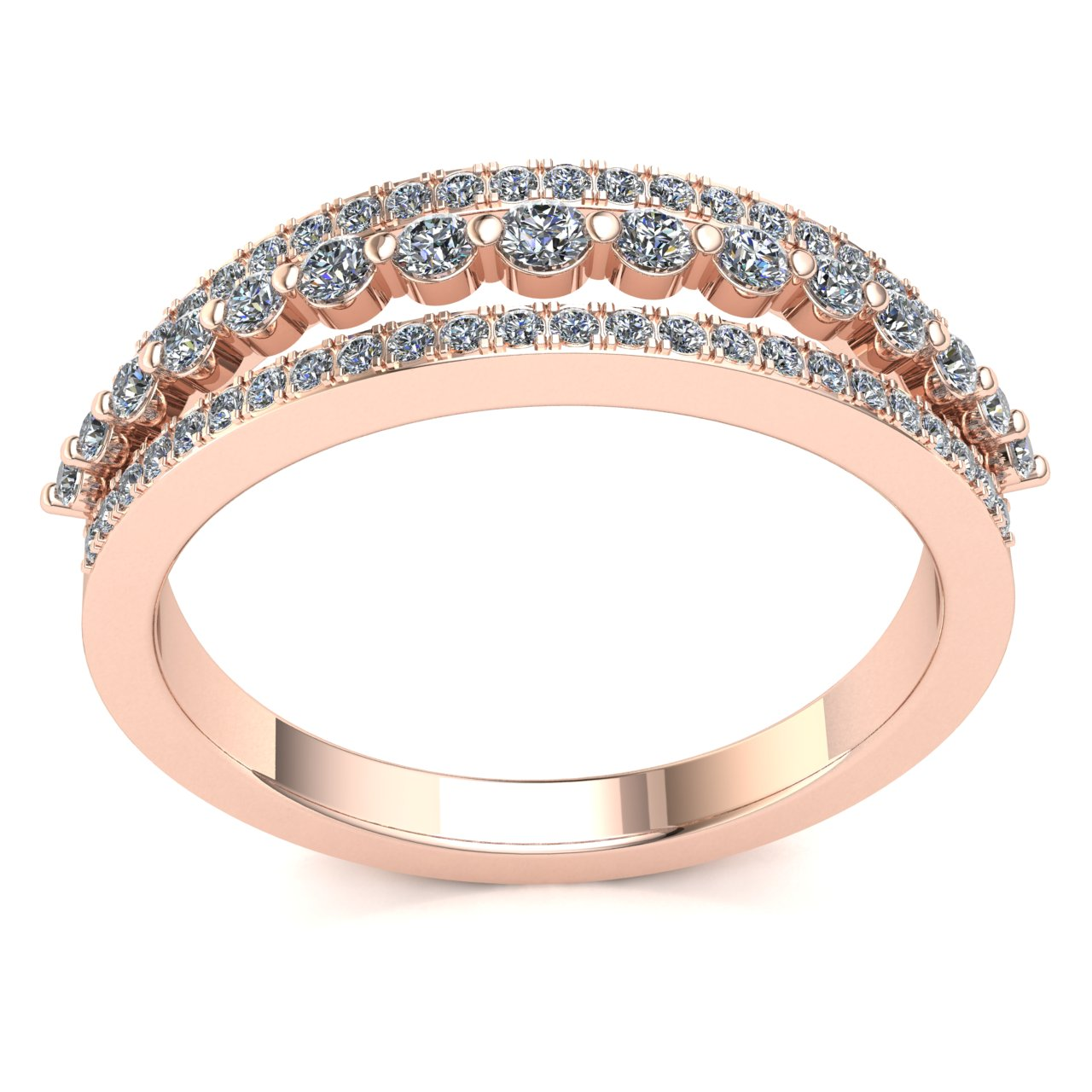 Genuine-0-5ctw-Round-Cut-Diamond-Ladies-Accent-Anniversary-Wedding-Band-10K-Gold thumbnail 8