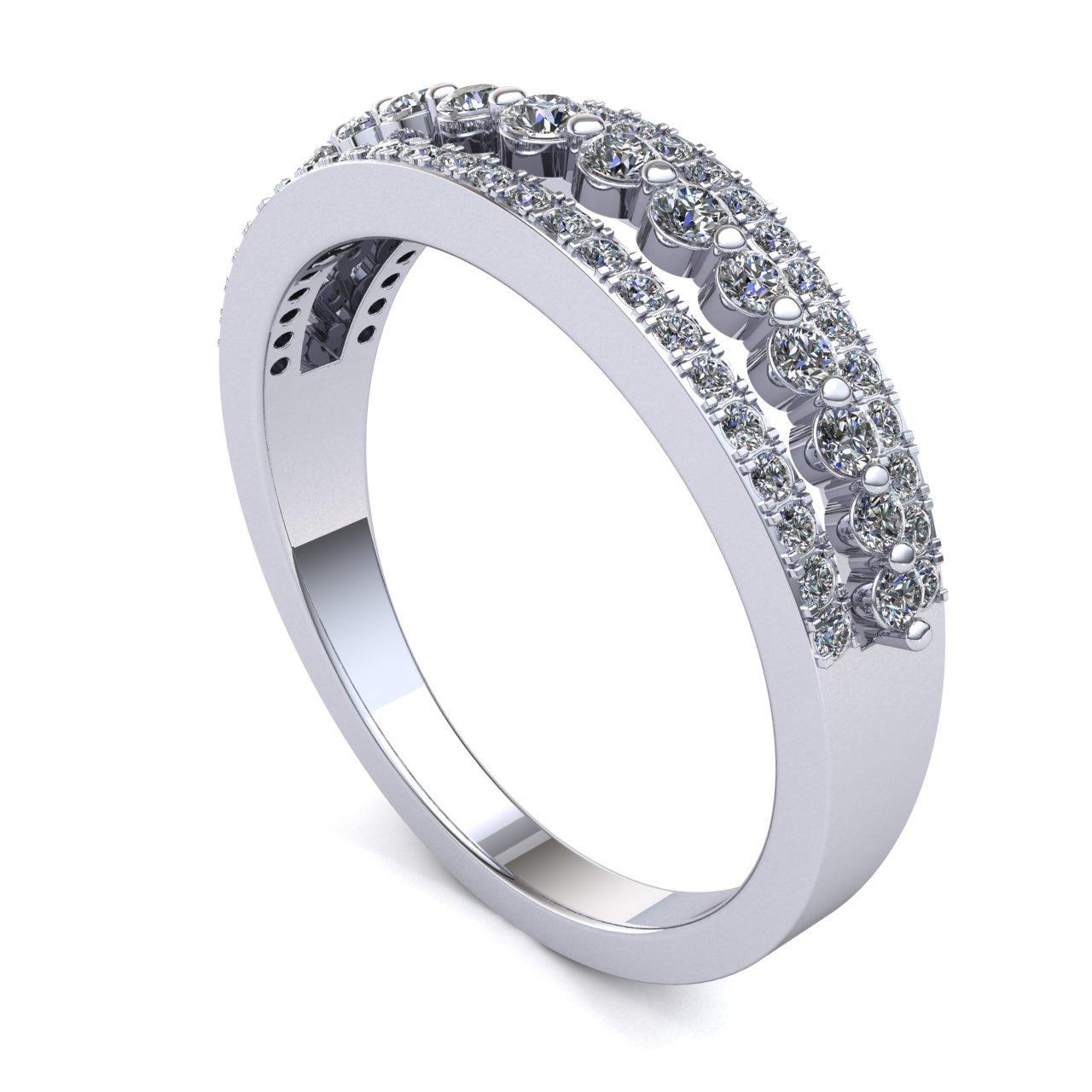 Genuine-0-5ctw-Round-Cut-Diamond-Ladies-Accent-Anniversary-Wedding-Band-10K-Gold thumbnail 10