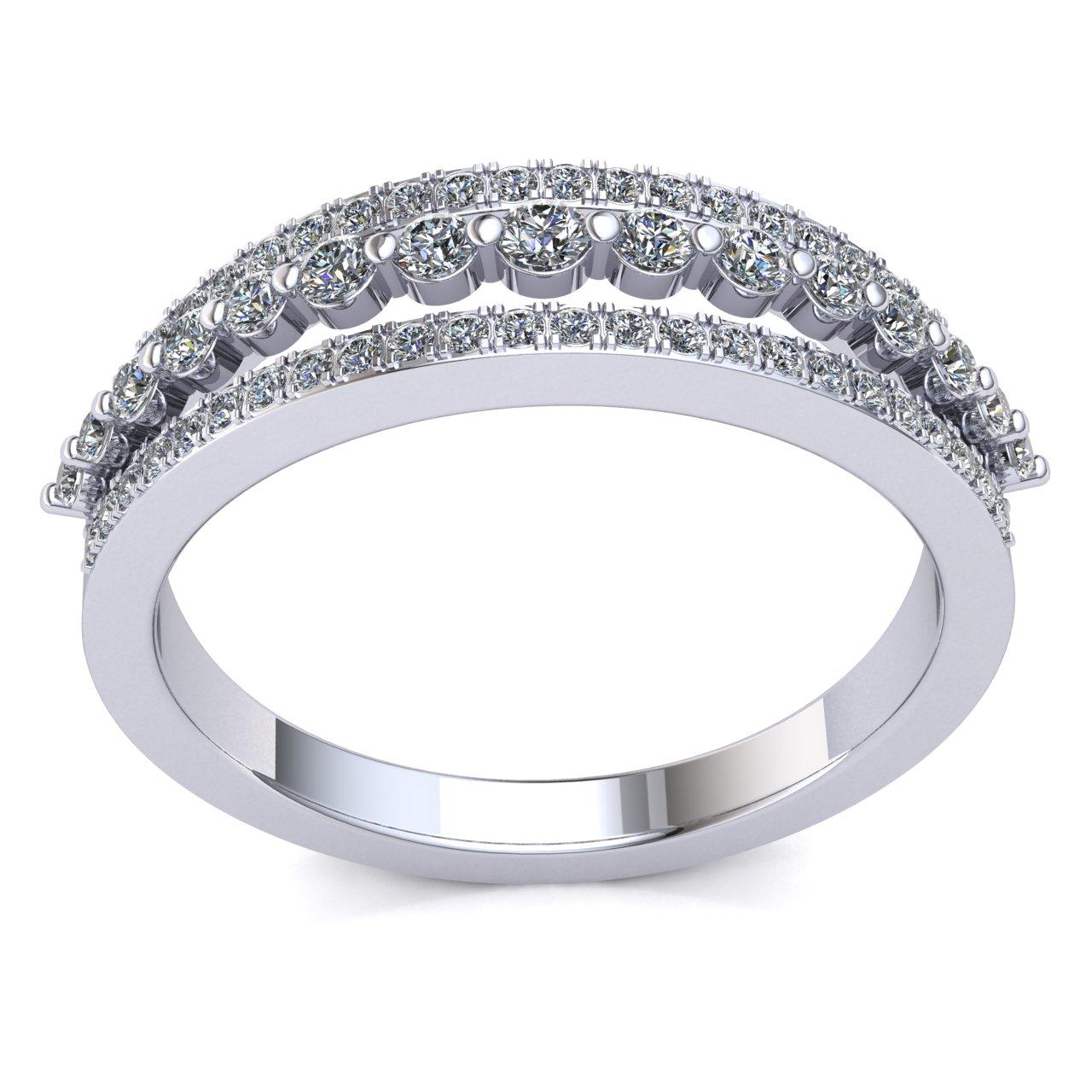 Genuine-0-5ctw-Round-Cut-Diamond-Ladies-Accent-Anniversary-Wedding-Band-10K-Gold thumbnail 11